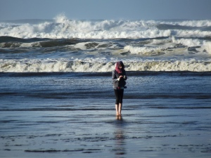 I turn my attention from the Pacific to practice my digital literacy, photo by Jerry West, 12.13.14
