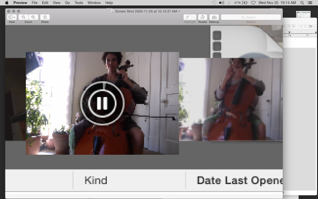 screen shit of a close up of a screenshot of a video of me sit for cello practice